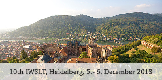 10th IWSLT 2013 Heidelberg